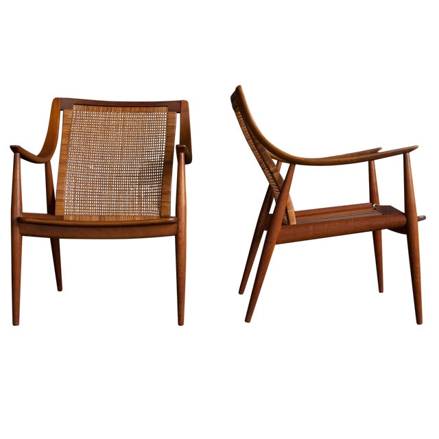 Peter Hvidt Lounge Chairs - Pair - Image 1 of 6