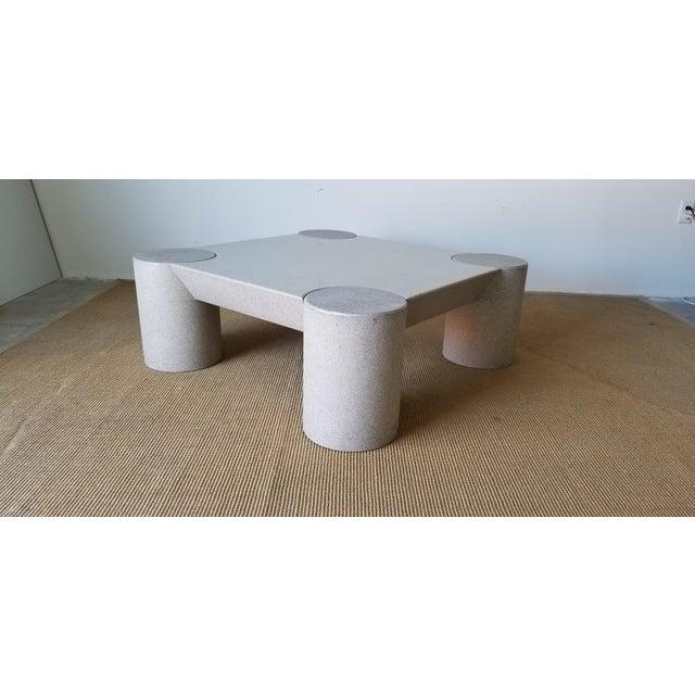 Light Gray 1980s Karl Springer Style Italian Postmodern Coffee Table For Sale - Image 8 of 10