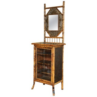 19th Century English Japonisme Bamboo Side Cabinet For Sale