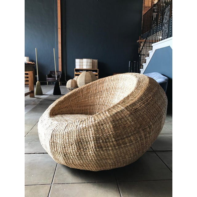 Boho Chic Mario Lopez Torres Woven Orb Chair For Sale - Image 3 of 3