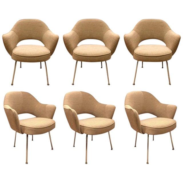 Eero Saarinen for Knoll Dining Armchairs - Set of 6 For Sale