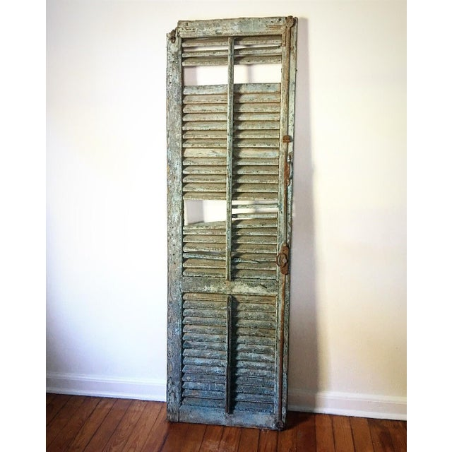 Antique 1800's Primitive Shutter For Sale In Savannah - Image 6 of 6