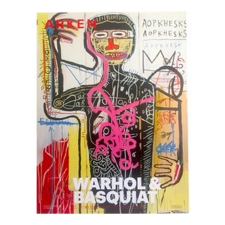 Andy Warhol & Jean Michel Basquiat Rare Limited Edition Original Offset Lithograph Print Poster For Sale