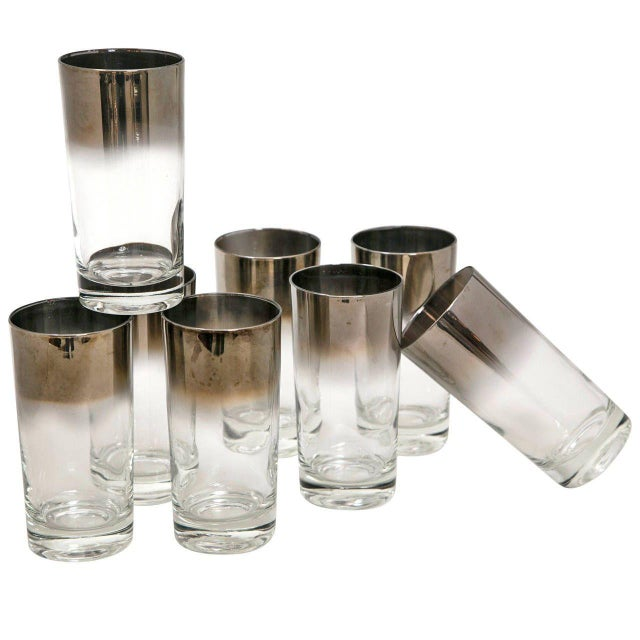 Mid-Century Silver Highball Glasses - Set of 8 - Image 1 of 6