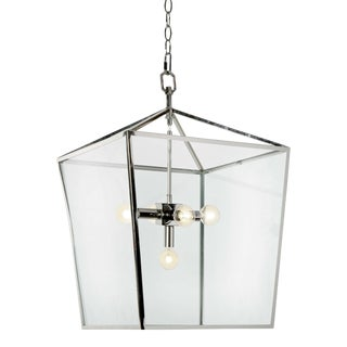 Camden Lantern in Polished Nickel For Sale