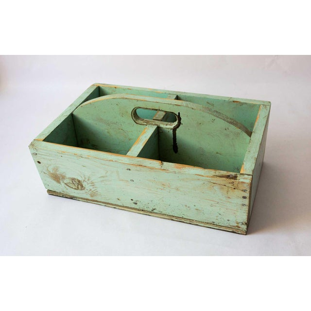 Green 1940s Shabby Chic Mint Green Berry Basket For Sale - Image 8 of 8