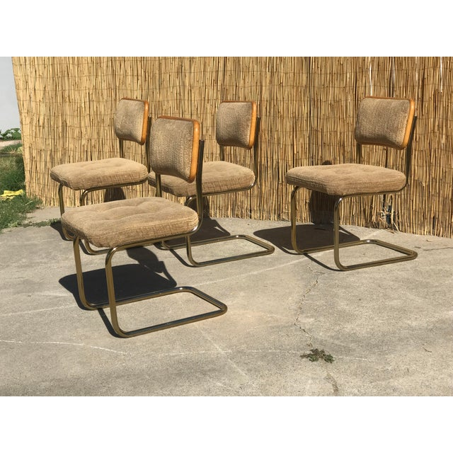 Marcel Breuer Mid Century Marcel Breuer by Knoll Dining Chairs- Set of 4 For Sale - Image 4 of 7