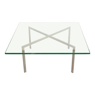 Mid Century Modern Knoll Barcelona Coffee Table by Ludwig Mies Van Der Rohe For Sale