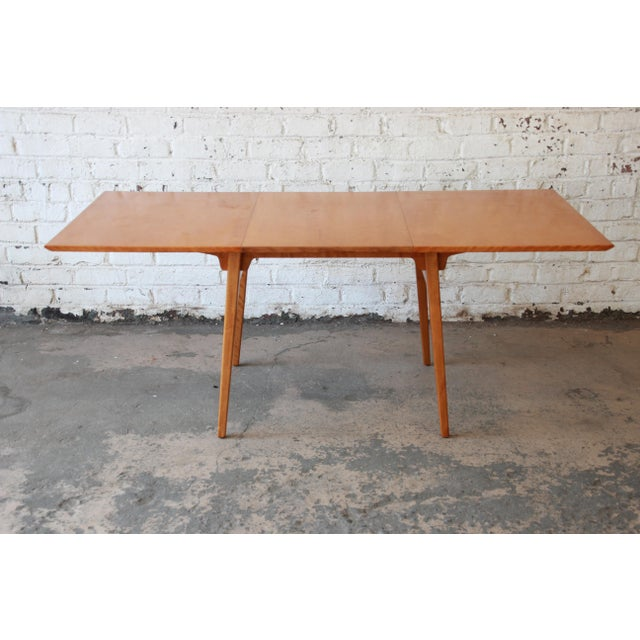 Jens Risom Mid-Century Modern Maple Dining Table For Sale - Image 5 of 11