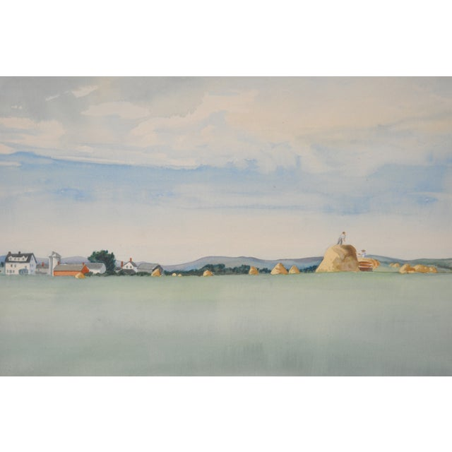 Impressionist Midwest Farm Landscape C.1939 - Image 3 of 7