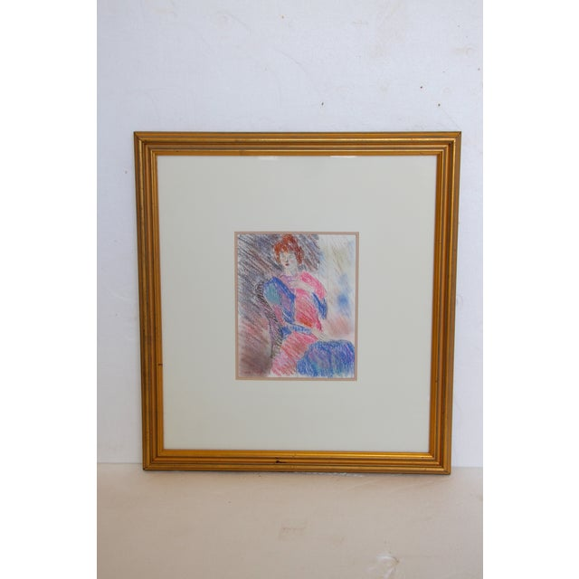Framed Chalk Pastel Portrait by Dianne Powell - Image 2 of 6