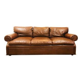 Ralph Lauren Leather Three Seat Sofa For Sale