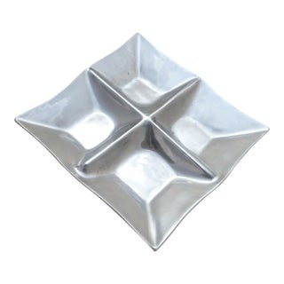 Mid Century Modern Divided Aluminum Candy Dish