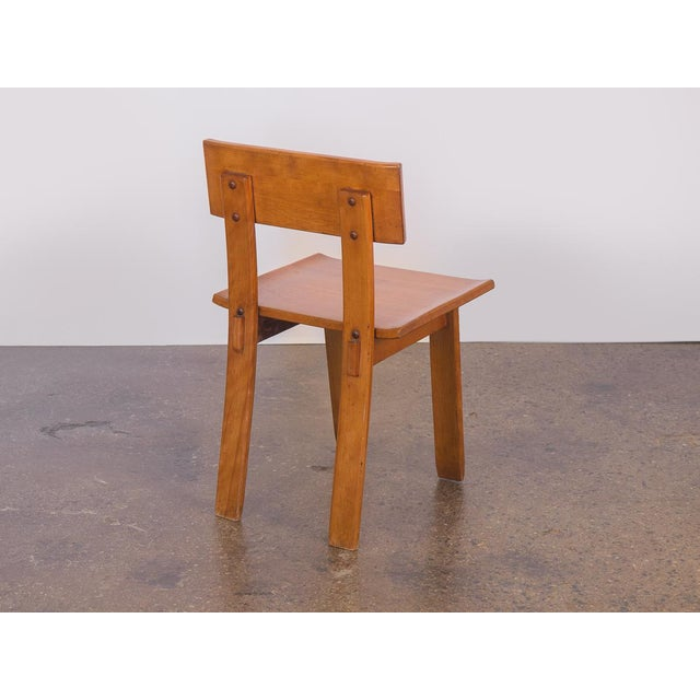 Art Deco 1935 Russel Wright American Modern Side Chair For Sale - Image 3 of 11