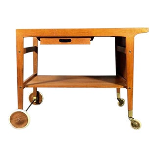 1950s Contemporary Sven Engström & Gunnar Myrstrand Teak Trolley For Sale