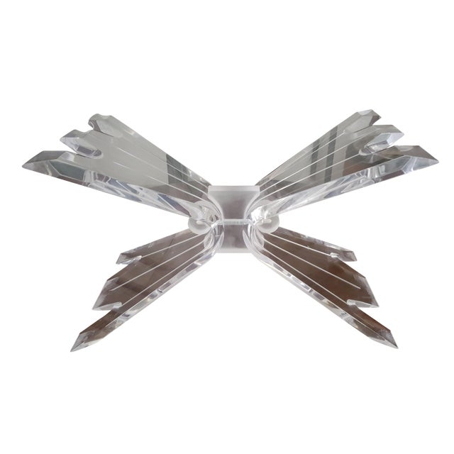 Hollywood Regency Lucite Butterfly Table Base - Image 1 of 7