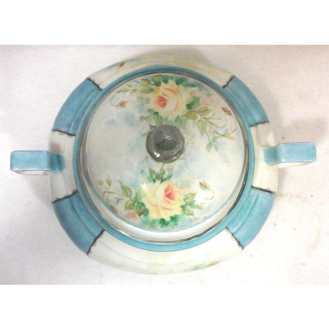 Art Deco Hand Painted Bavarian Porcelain Soup Tureen - Image 3 of 10