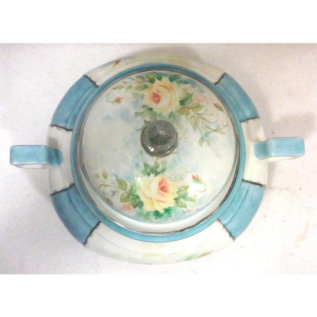 Art Deco Art Deco Hand Painted Bavarian Porcelain Soup Tureen For Sale - Image 3 of 10