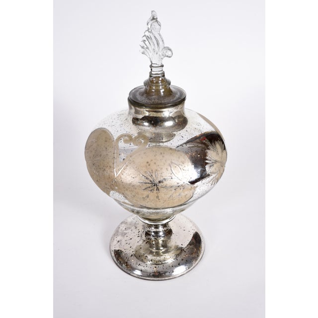 Mercury Glass Covered Decorative Vase For Sale In New York - Image 6 of 9