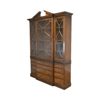 Kittinger Colonial Williamsburg Cw 158 Large Mahogany Breakfront Bookcase For Sale