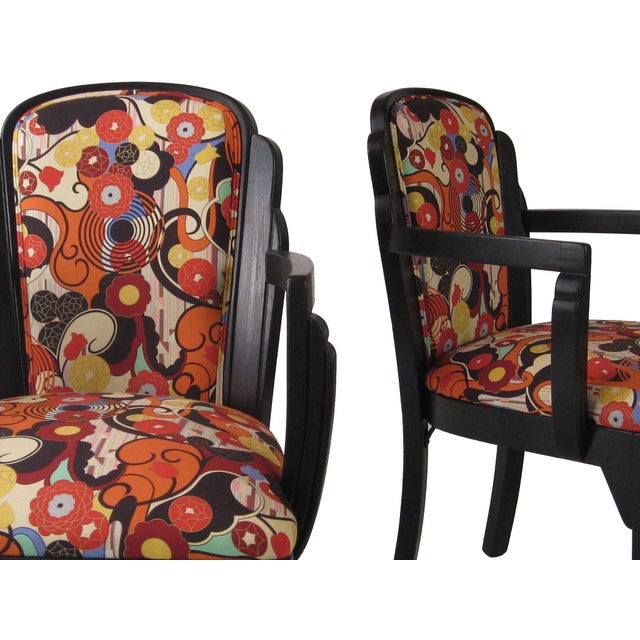 Art Deco Arm Chairs - A Pair - Image 2 of 6