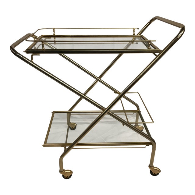 Mid-Century French Bar Cart - Image 1 of 8