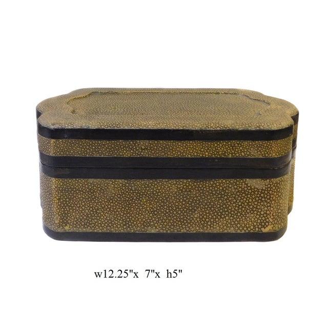 Chinese Mustard Yellow Pattern Cover Box - Image 5 of 5
