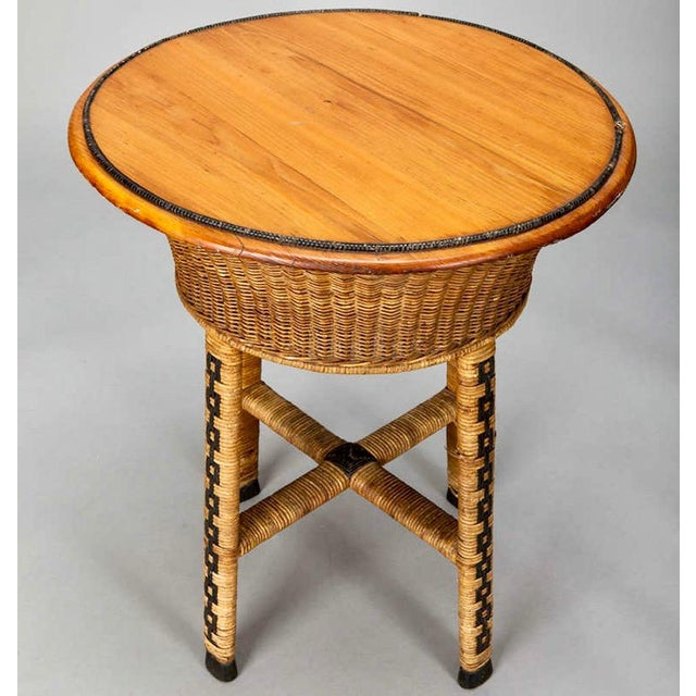 1920's Round Wicker Side Table - Image 3 of 4