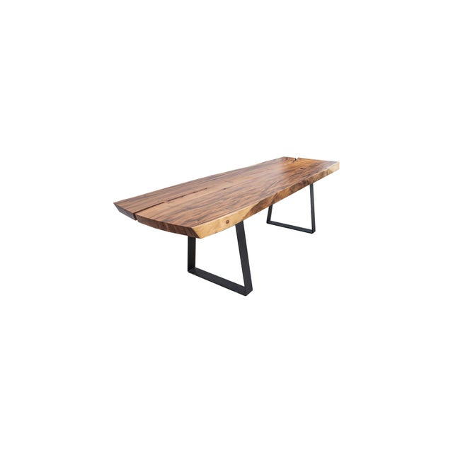 Live Edge Wood Dining Table For Sale - Image 4 of 4