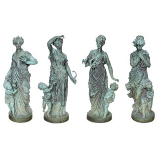 Bronze Figures Representing the Four Seasons