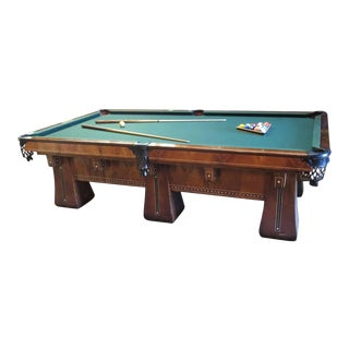 1915 Brunswick Arcade Pool Table With Rare Six-Legged Base For Sale