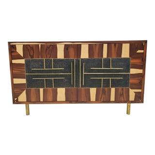 Mid Century Mexican Modernism Frank Kyle Brazilian Rosewood Veneered Sideboard For Sale