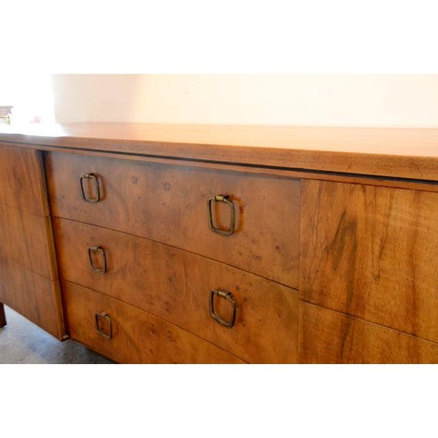 John Stuart for Widdicomb Walnut Dresser with Brass Pulls - Image 6 of 8