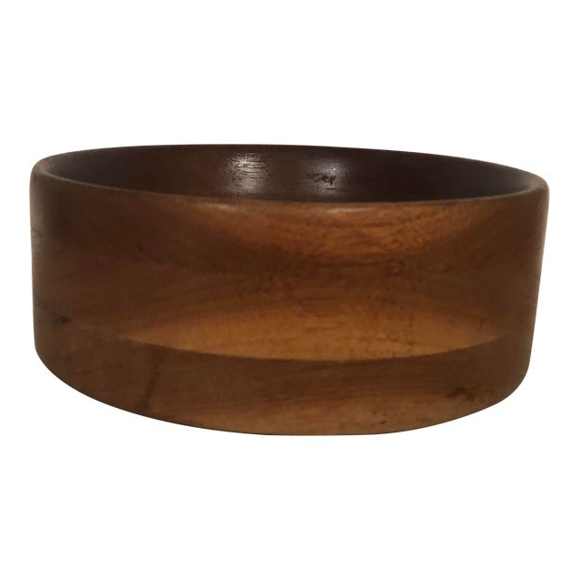 Vintage Handcrafted Wooden Turned Bowl For Sale