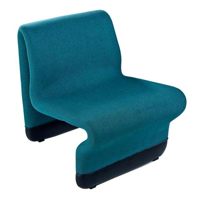 Jan Ekselius Style Modern Modular Teal Tweed Sectional Sofa Seating - Set of 10 For Sale In Tampa - Image 6 of 13
