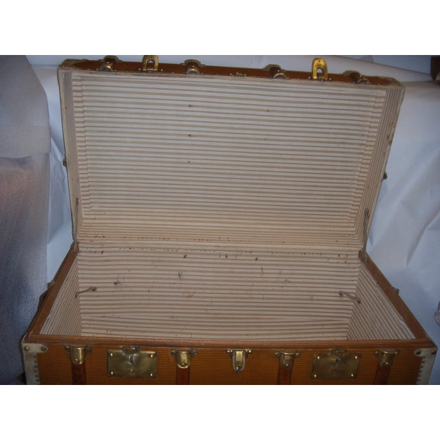 French Wood, Vellum & Leather Trunk - Image 7 of 10