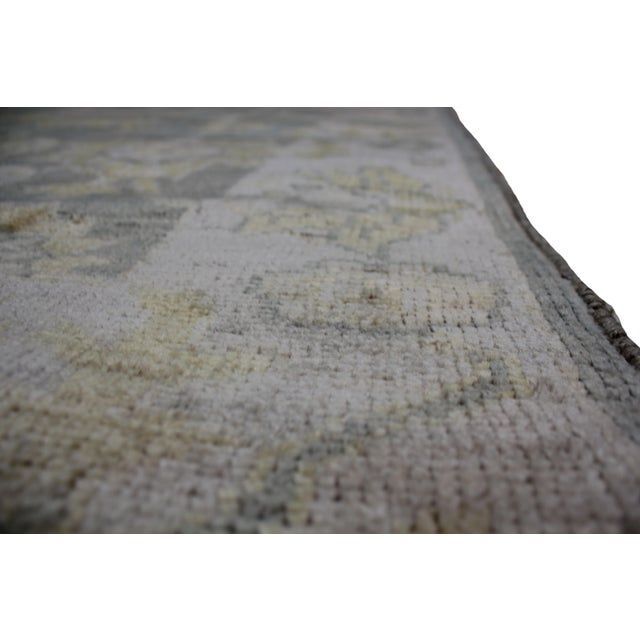 "Aara Rugs Inc. Hand Knotted Oushak Rug - 6'2"" x 4'2"" For Sale - Image 4 of 4"