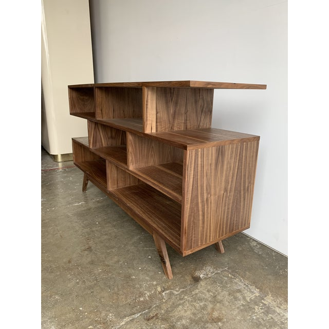 2010s Walnut Modern Book Case For Sale - Image 5 of 13