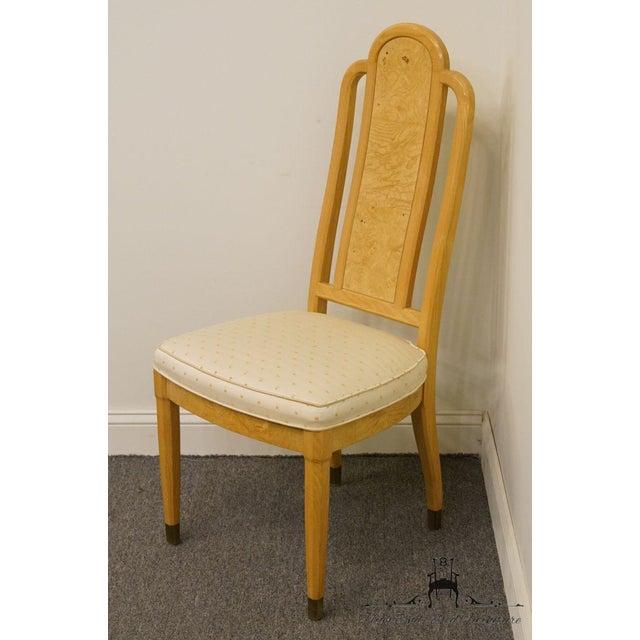 Henredon Henredon Scene Two Burled Olive Splat Back Dining / Side Chair For Sale - Image 4 of 13