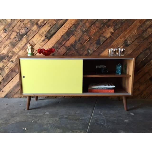 Mid Century Style Custom Two Tone Credenza For Sale In Los Angeles - Image 6 of 7