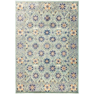 "Suzani Hand Knotted Area Rug - 6'1"" x 8'10"" For Sale"