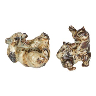Stoneware Bears by Knud Kyhn for Royal Copenhagen For Sale