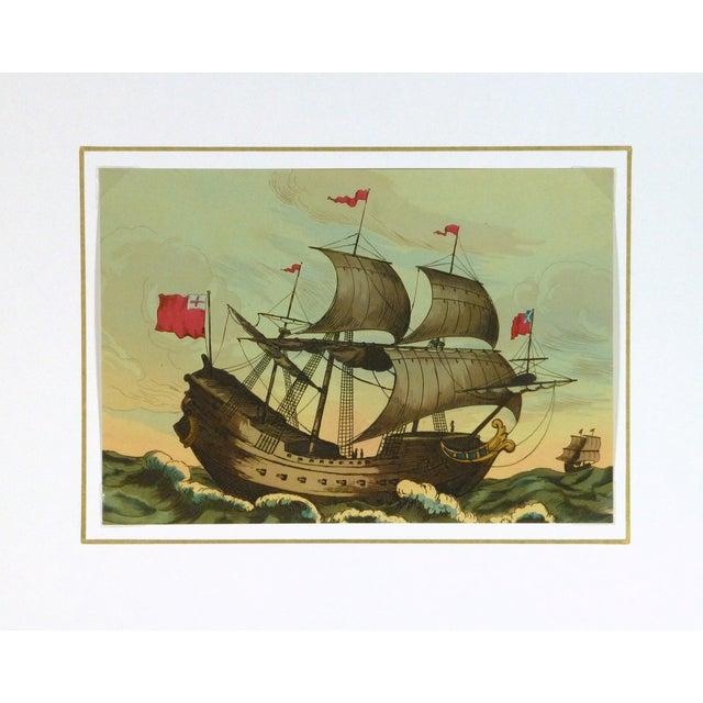 European Sail Boat Woodcut - Image 3 of 3