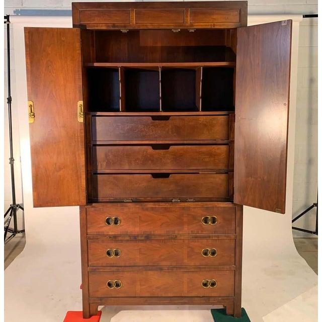 Michael Taylor for Baker Middle East Collection Walnut Highboy Dresser For Sale - Image 10 of 12