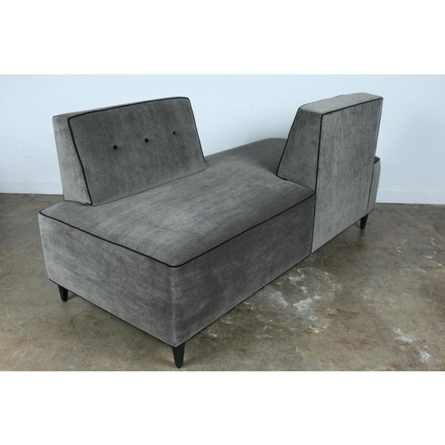 Modern Mohair Double Sided Sofa For Sale In Los Angeles - Image 6 of 11