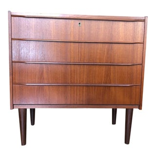 Mid Century Danish Teak 4 Drawer Chest 1960s For Sale