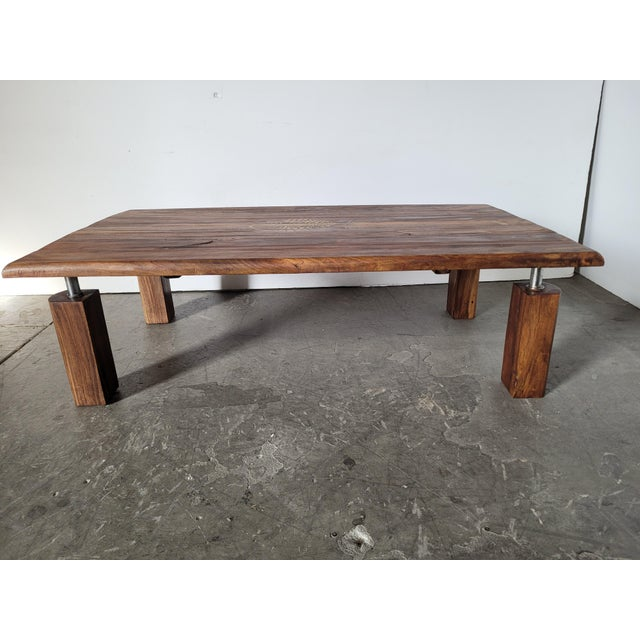 1950s Brazilian Rosewood Indoor/Outdoor Coffee Table For Sale - Image 5 of 9
