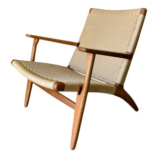 1950s Vintage Hans Wegner for Carl Hansen & Son Ch 25 Lounge Chair For Sale