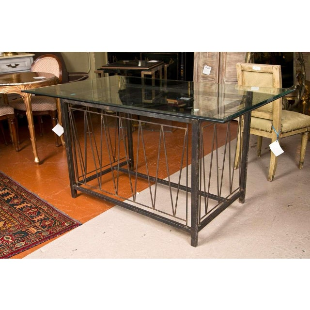 Black A Deigo Giacometti Style Metal Base Desk For Sale - Image 8 of 8