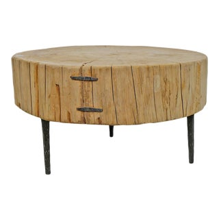 White Stump Coffee Table For Sale